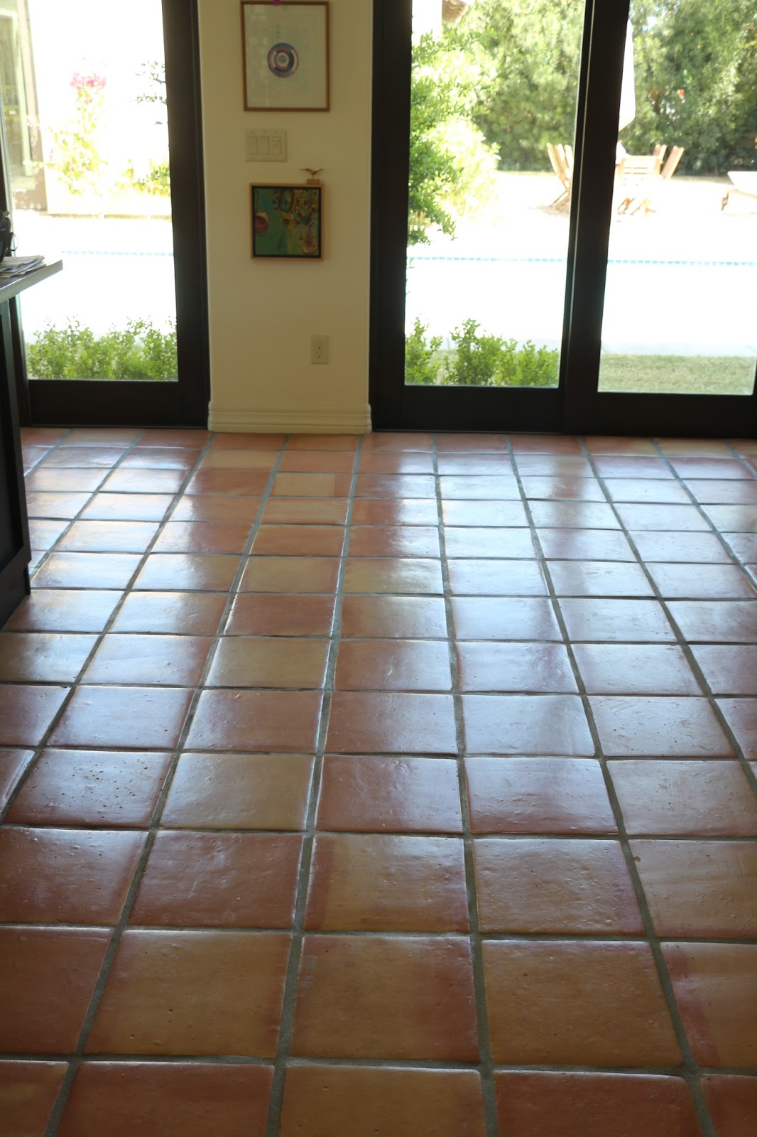 stripping and sealing a saltillo tile floor