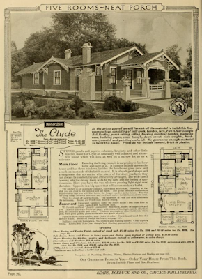 Sears Clyde later model bungalow 1921-1929