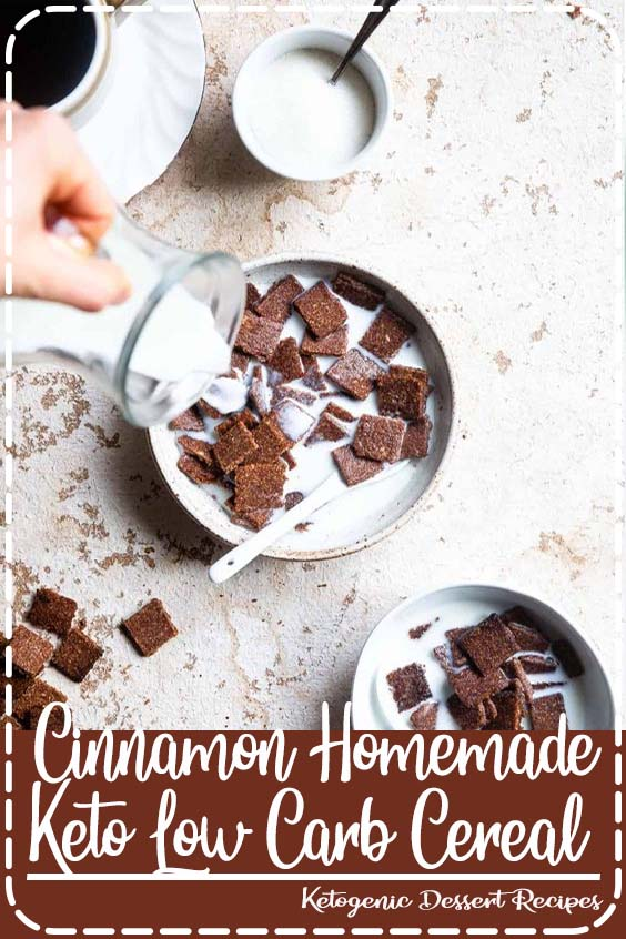 paleo friendly Homemade Cereal tastes like cinnamon toast crunch but its gluten Cinnamon Homemade Keto Low Carb Cereal
