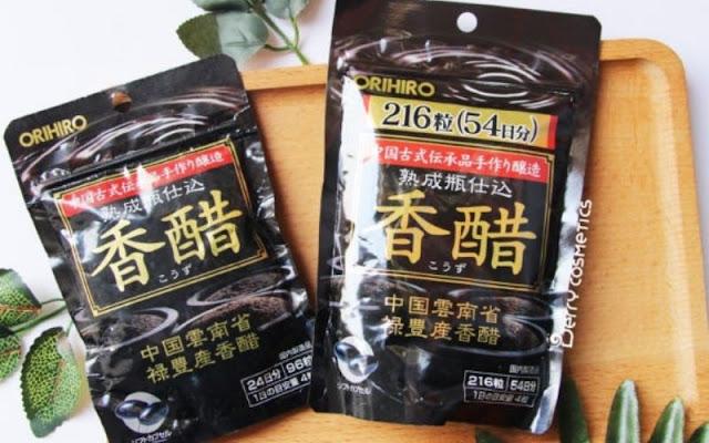 thực phẩm chức năng giảm cân với giấm đen