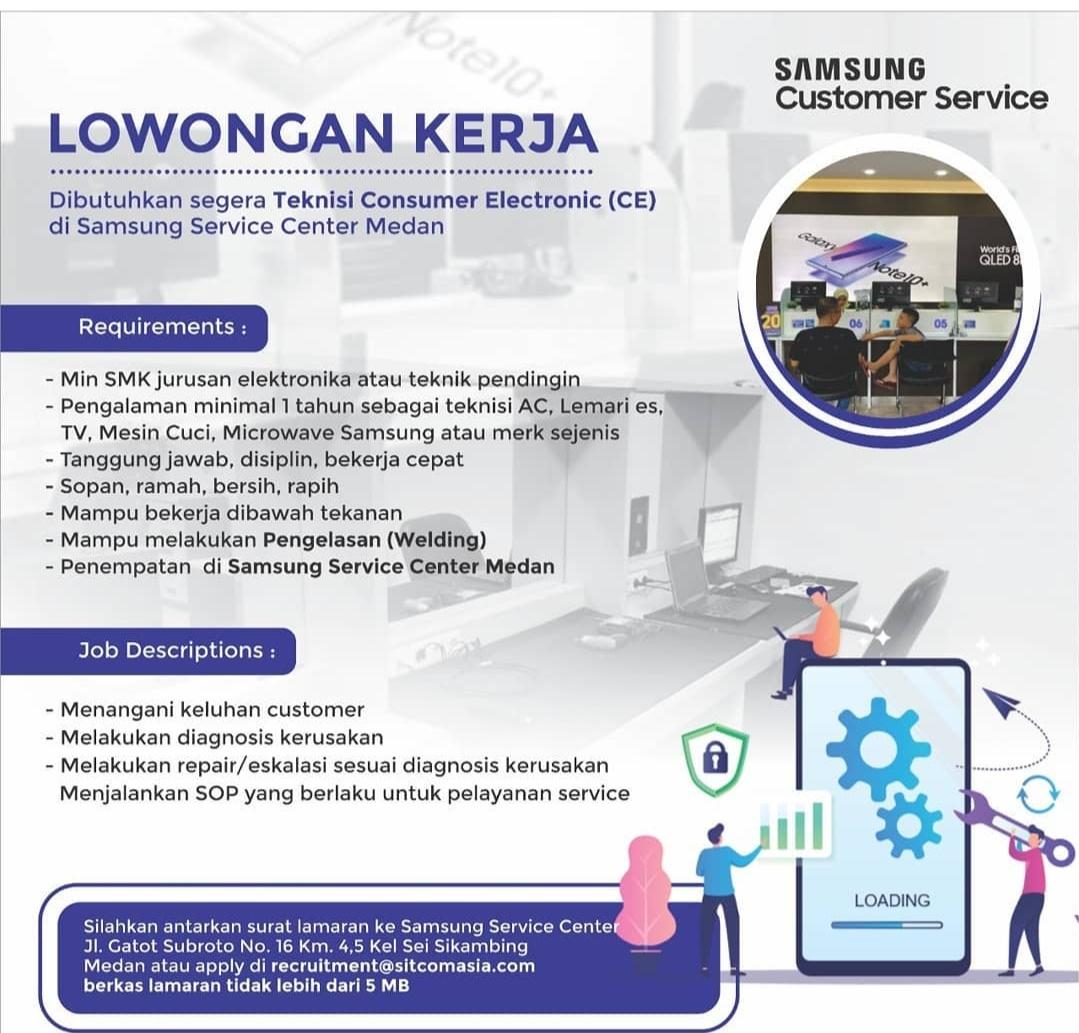 Lowongan Kerja Smk Medan Samsung Service Center Maret 2021 Lowongan Kerja Sma Smk D3 S1 Mei 2021