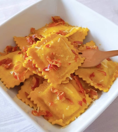 Sweet Potato Ravioli with Sage & Browned Butter