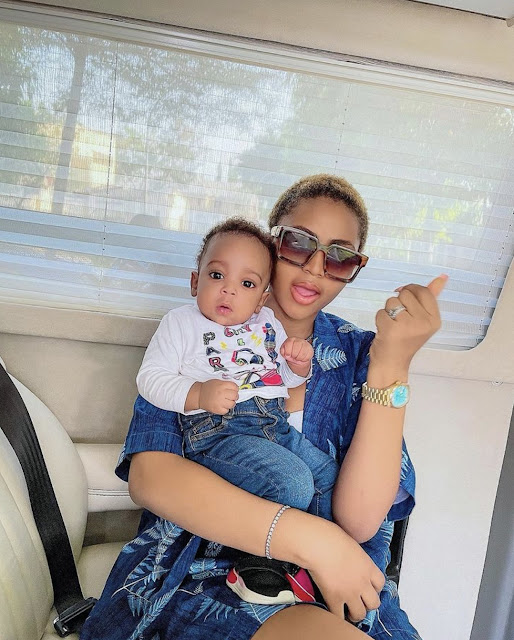 """Motherly Praise: Regina Daniels Praises Her Only Child With Ned Nwoko as """"Perfect Human"""" (Photos)"""