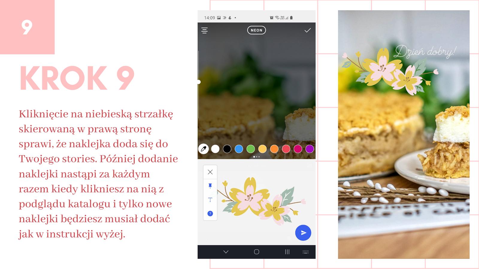 10 darmowe naklejki na instastories kwiaty wielkanoc jak zrobić swoją naklejkę na stories instagram jak wstawiać naklejki na instastory klawiatura swiftkey instrukcja krok po kroku