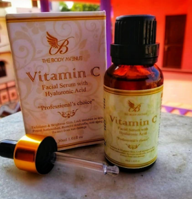 TheBody Avenue Vitamin C serum for face with Vitamin E and Hyaluronic acid