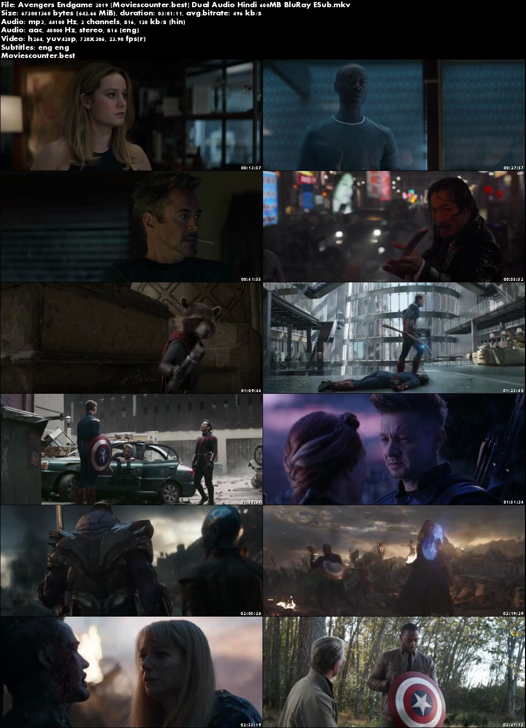 Screen Shots Avengers: Endgame 2019 Dual Audio HD 300MB