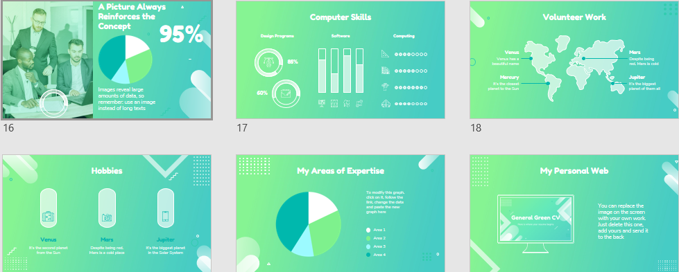 General Green CV Download Free PowerPoint Templates