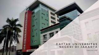 Daftar Universitas Negeri di Jakarta