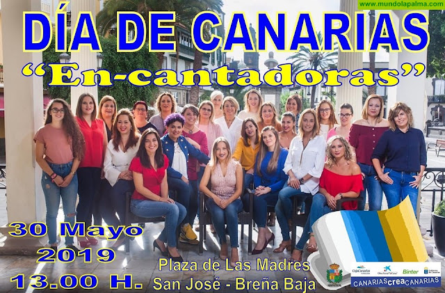 "Agrupación ""En-Canatadoras"" Día de Canarias 2019 en Breña Baja"