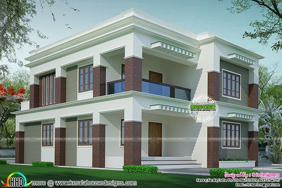2703 Sq Ft Flat Roof House Kerala Home Design And Floor