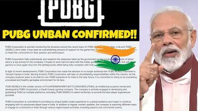 PUBG UNBAN भारत में बहुत जल्द pubg unban होने वाला है।