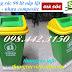 Sản xuất thùng rác 60 lít nắp lật, thùng rác 90 lít nắp lật nhựa composite giá rẻ call 0984423150 – Huyền