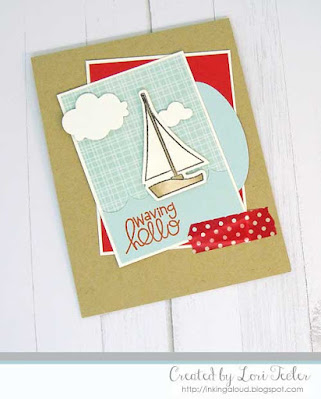 Waving Hello card-designed by Lori Tecler/Inking Aloud-stamps and dies from Paper Smooches