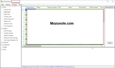 Mengelola User Aktif Direktory dengan ADBulk Tool