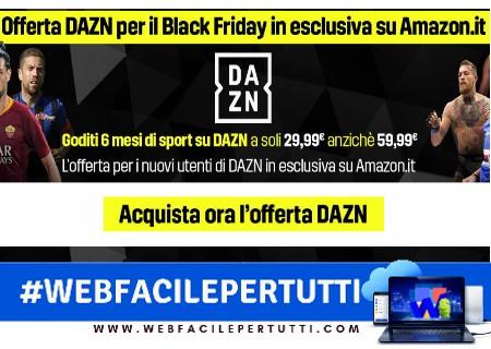 Offerta DAZN Black Friday - Sei Mesi a soli 29.99 anzichè 59.99
