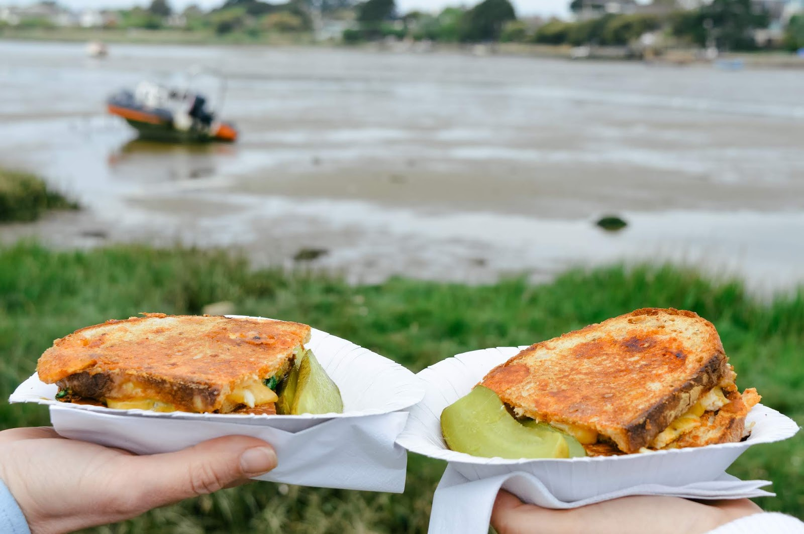 Mudeford Seafood Festival Review | Crab and chilli grilled cheese sandwich