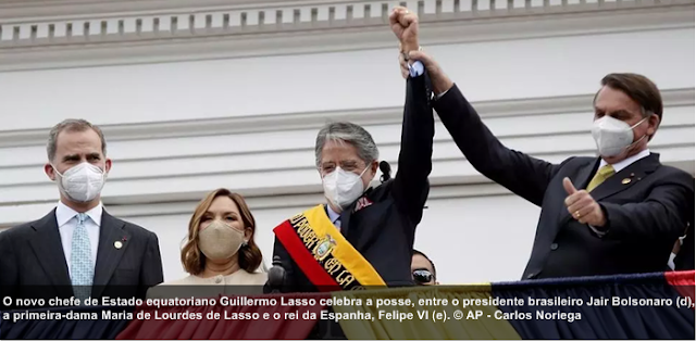 Guillermo Lasso assume presidência do Equador com o desafio de tirar país da crise
