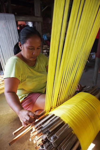 Ilocos binakul textile traditional weaving colorful threads