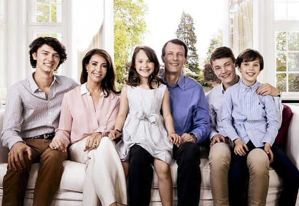 Princess Marie, Prince Henrik, Princess Athena, Prince Nikolai and Prince Felix. Crown Princess Mary, Prince Frederik