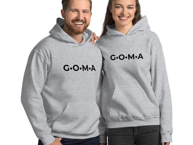 GOMAGEAR G.O.M.A INITIALS UNISEX HOODIE