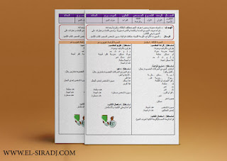 جذاذات المفيد في اللغة العربية للمستوى الاول ابتدائي