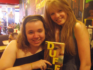 THE DUFF release party: Kody Keplinger and Emilia Plater