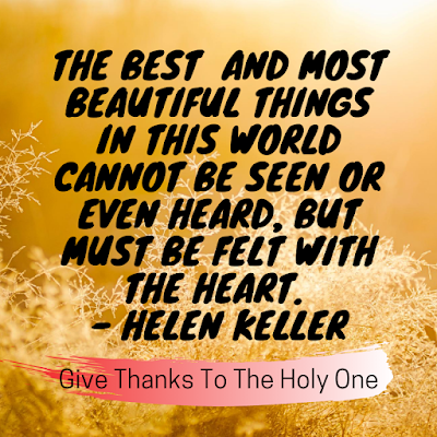 Give Thanks To The Holy One Inspirational Quote September 3 2020