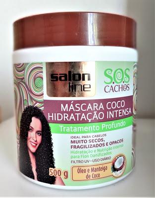 mascara de hidratação para cabelos cacheados e em transição capilar