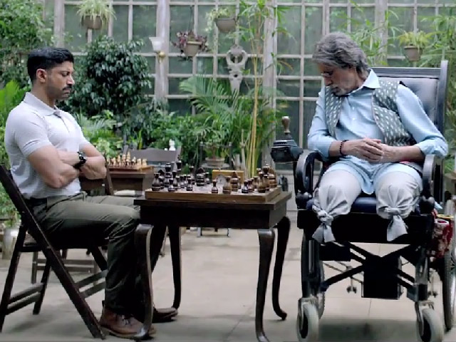 Farhan Akhtar and Amitabh Bachchan in Wazir, Directed by Bejoy Nambiar