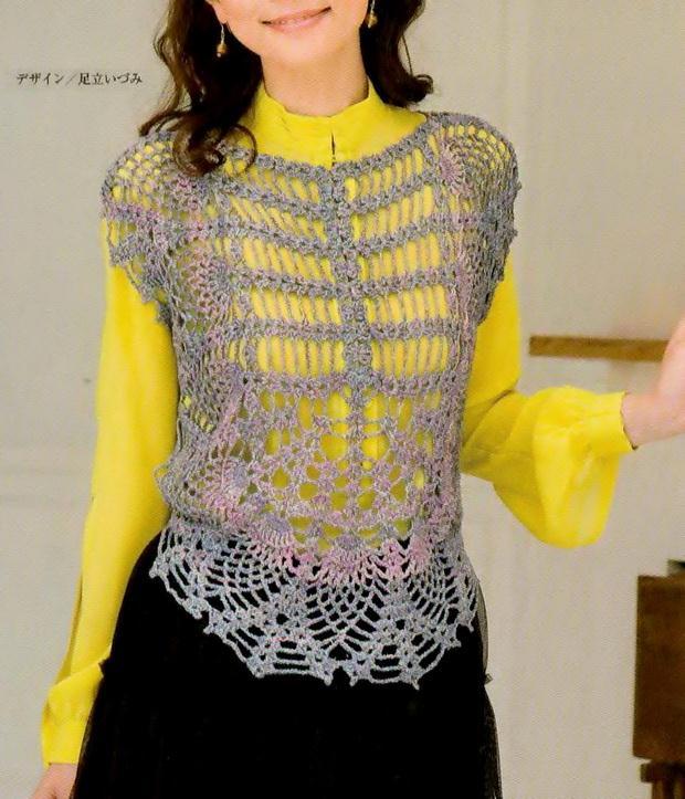 crochet vest for women with pattern