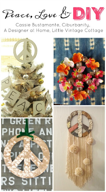 Four bloggers share their interpretations of a wooden peace sign cut-out