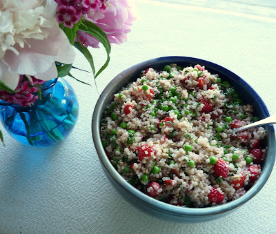 Quinoa Salad with Peas & Strawberries