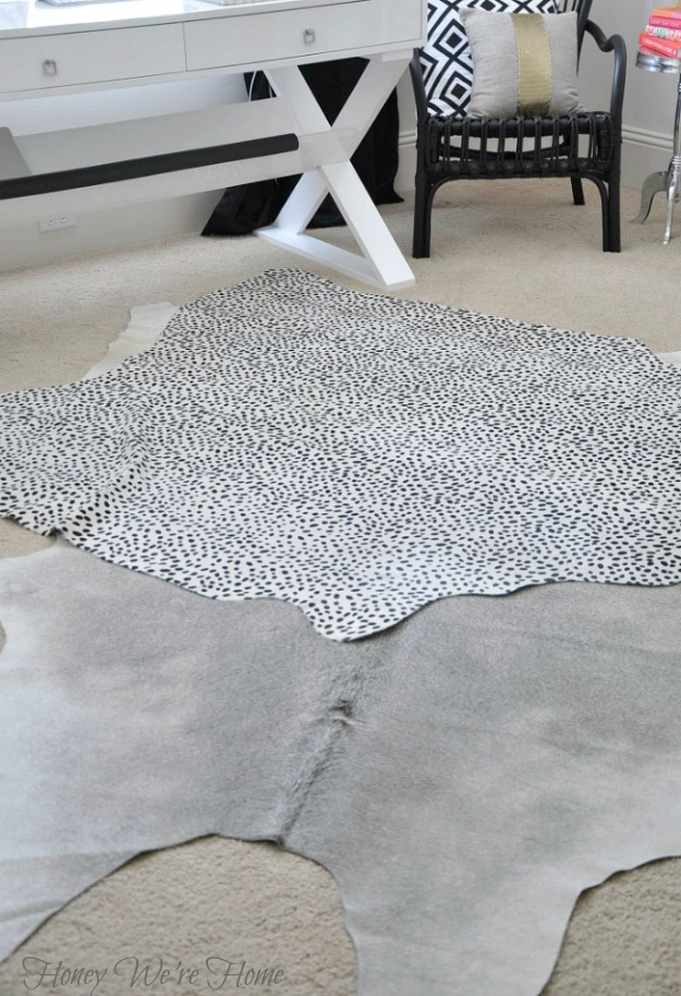 Honey We're Home: Layered Cowhide Rugs