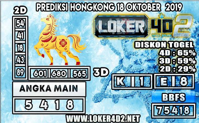 PREDIKSI TOGEL HONGKONG POOLS LOKER4D2 18 OKTOBER 2019