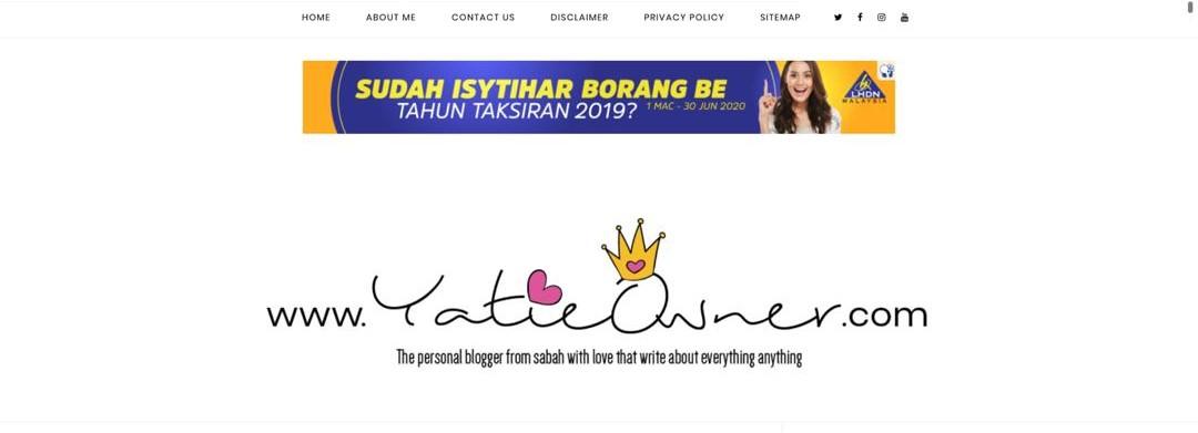 Sudah Isytihar Borang BE Tahun Taksiran 2019?