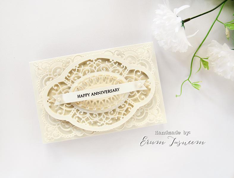 Spellbinders Shapeabilities Annabelle's Trousseau Layering Frame | Hannah Elise Layering Frame  | Erum Tasneem | @pr0digy0
