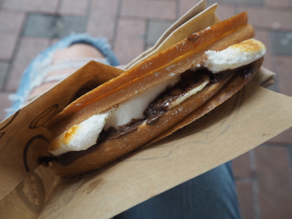 Nutella banana marshmallow toastie