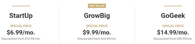 SiteGround Wordpress/ WooCommerc/ Web Hosting Plans and Prices