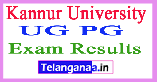 Kannur University Result 2017 Kannur University UG PG Result