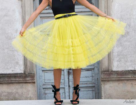 Descubrir super popular buena venta Laura Caicoya: Falda de tul amarilla