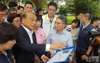 蘇貞昌今(4日)前往視察旱溪排水整治計畫