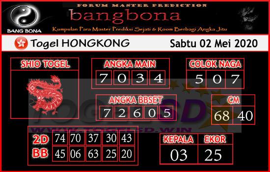 Prediksi HK 02 Mei 2020 - Bang Bona HK