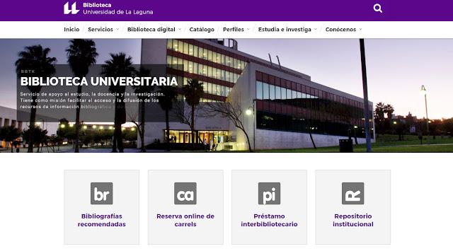 Nueva web de la Biblioteca ULL