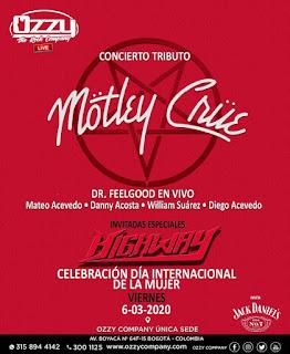 Concierto Tributo a Motley Crue en Bogota