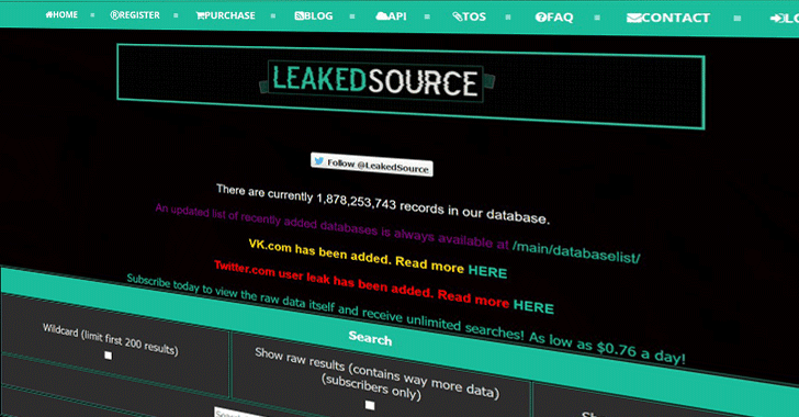 Breach Database Site 'LeakedSource' Goes Offline After Alleged Police Raid