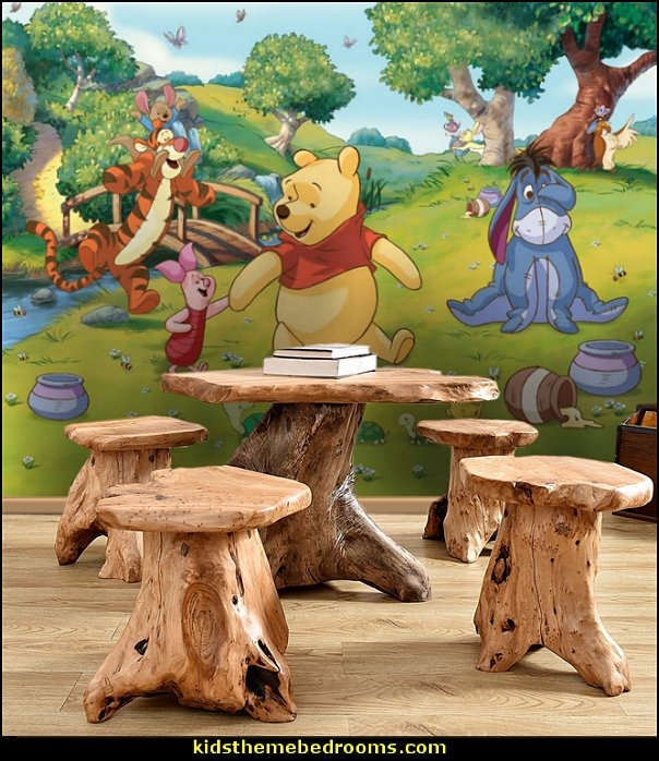 Disney Winnie the Pooh Mural Tree Stump Stool   winnie the pooh bedroom ideas - winnie the pooh decor - Winnie the Pooh Theme - Winnie the Pooh bedding - Pooh And Piglet - winnie pooh and friends themed bedrooms - Eeyore decor - bee decor - honey bee decor - teddy bear baby bedroom theme - teddy bear chairs - winnie the pooh wall murals - Winnie the Pooh nursery decor - Winnie the Pooh wall stickers - winnie the pooh wall mural - Bumble bee bedroom ideas -