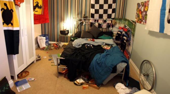 Ilustrasi keadaan kamar yang berantakan