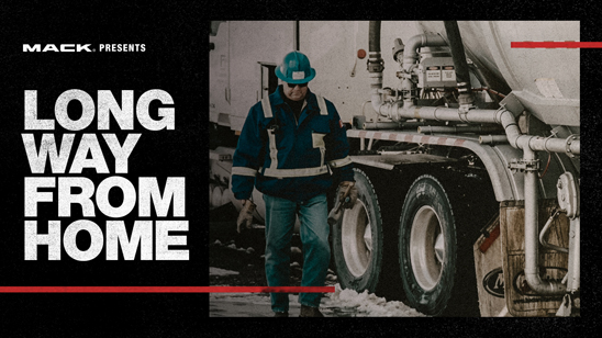Mack Trucks' latest RoadLife episode, Long Way From Home, was released today on roadlife.tv. The episode focuses on two Canadian long-haul truckers and describes the personal sacrifices they make to ensure goods are delivered on time.