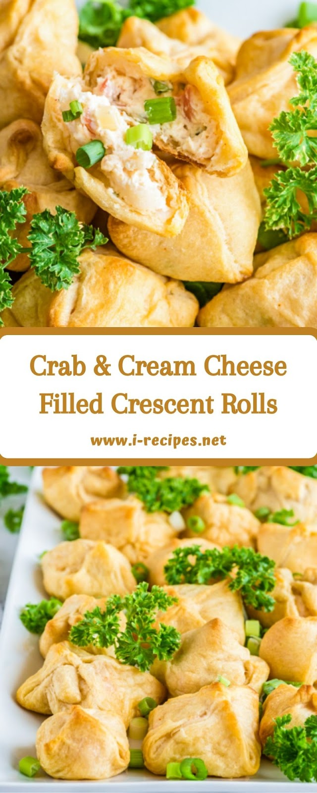 Crab & Cream Cheese Filled Crescent Rolls
