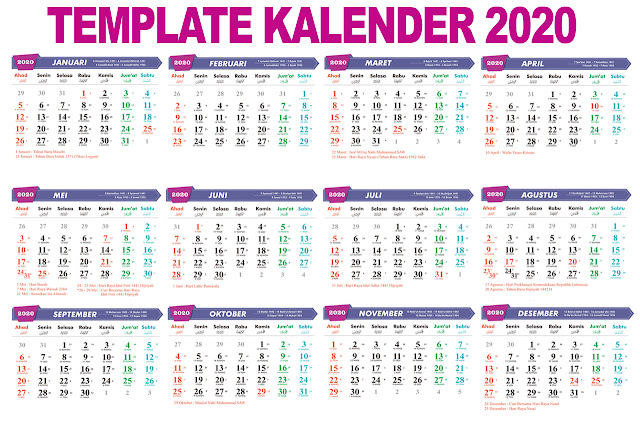 download kalender 2020 - template kalender 2020 - gelaspecah.id